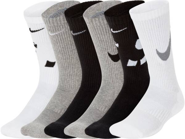 Nike Youth Everyday Cushioned Crew Socks – 6 Pack product image