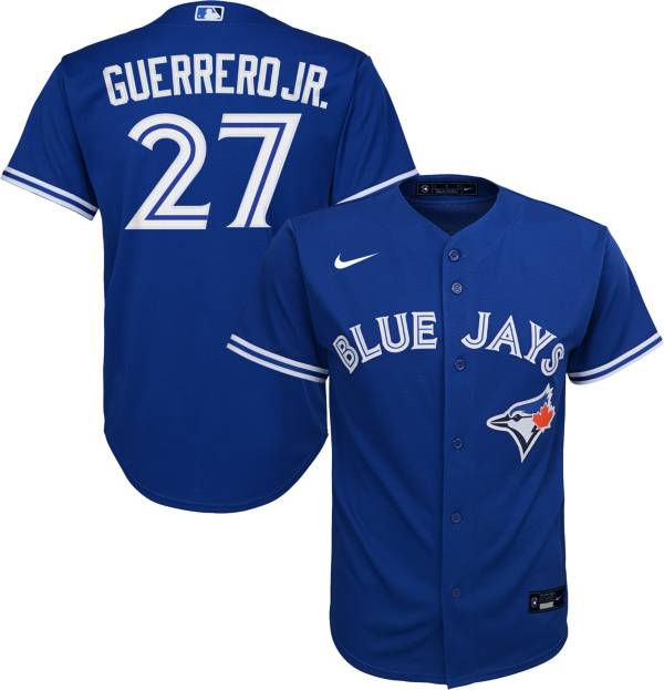 Nike Youth Replica Toronto Blue Jays Vladimir Guerrero Jr #27 Cool Base Royal Jersey product image