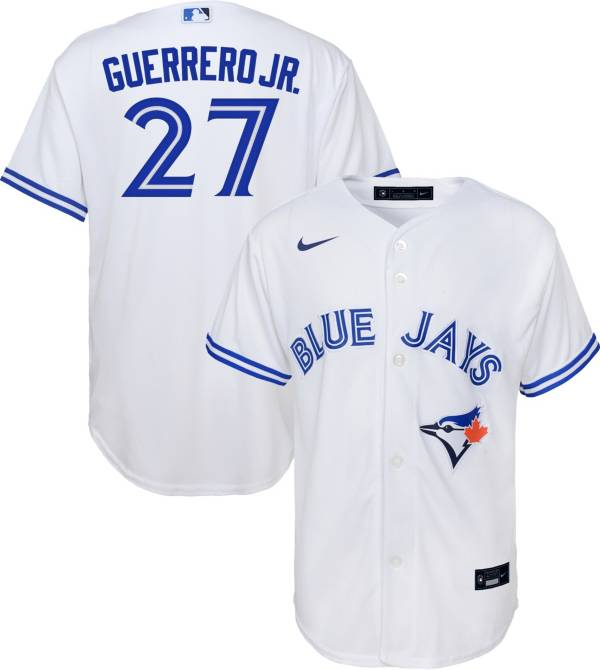 Nike Youth Replica Toronto Blue Jays Vladimir Guerrero Jr #27 Cool Base White Jersey product image