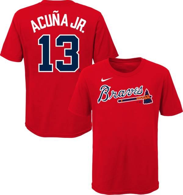 Nike Youth Atlanta Braves Ronald Acuna Jr. #13 Red T-Shirt product image