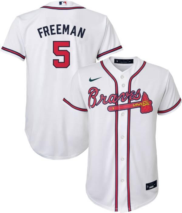 Nike Youth 4-7 Replica Atlanta Braves Freddie Freeman #5 Cool Base White Jersey product image