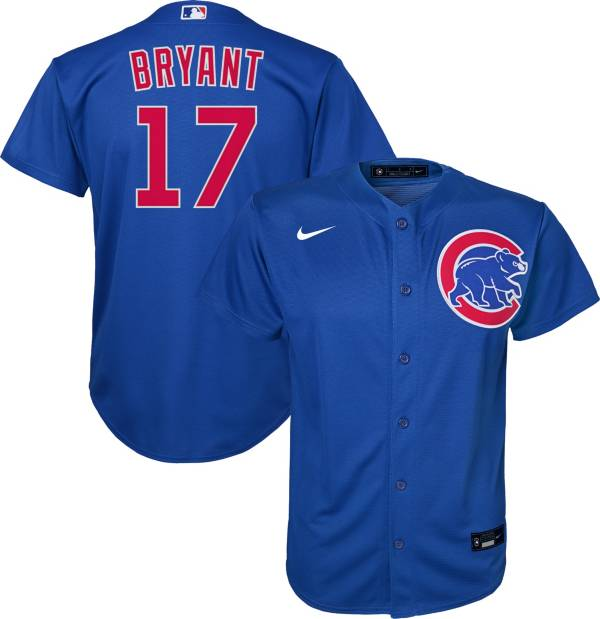 Nike Youth Replica Chicago Cubs Kris Bryant #17 Cool Base Royal Jersey product image