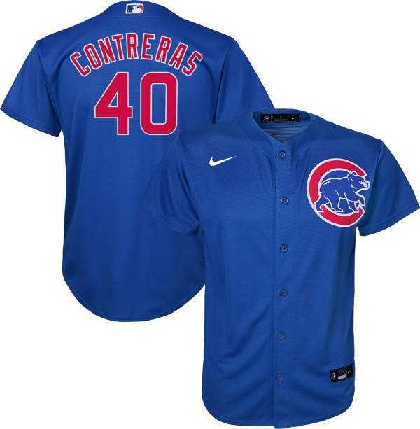 Nike Youth Replica Chicago Cubs Wilson Contreras #40 Cool Base Royal Jersey product image