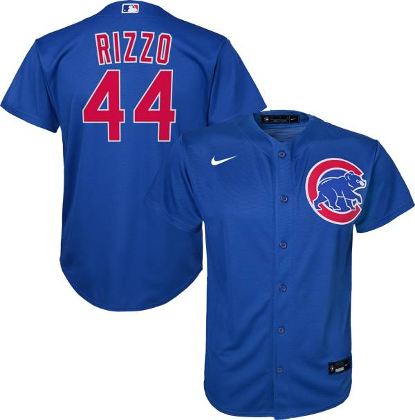 Nike Youth Replica Chicago Cubs Anthony Rizzo #44 Cool Base Royal Jersey product image
