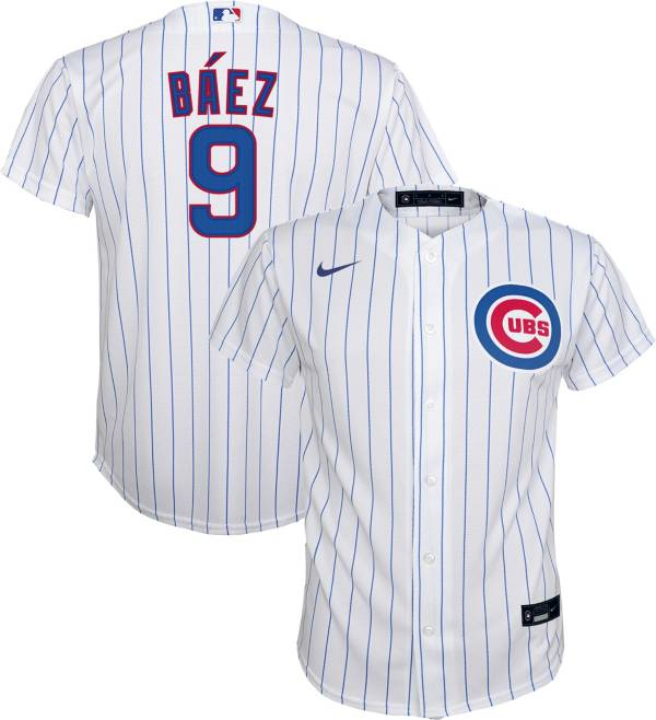 Nike Youth Replica Chicago Cubs Javier Baez #9 Cool Base White Jersey product image
