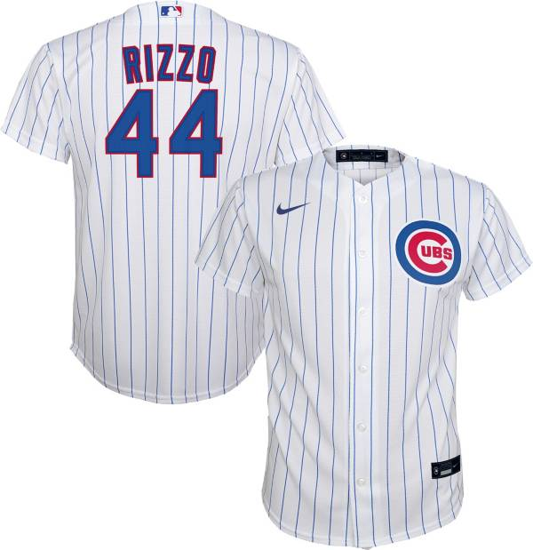 Nike Youth Replica Chicago Cubs Anthony Rizzo #44 Cool Base White Jersey product image