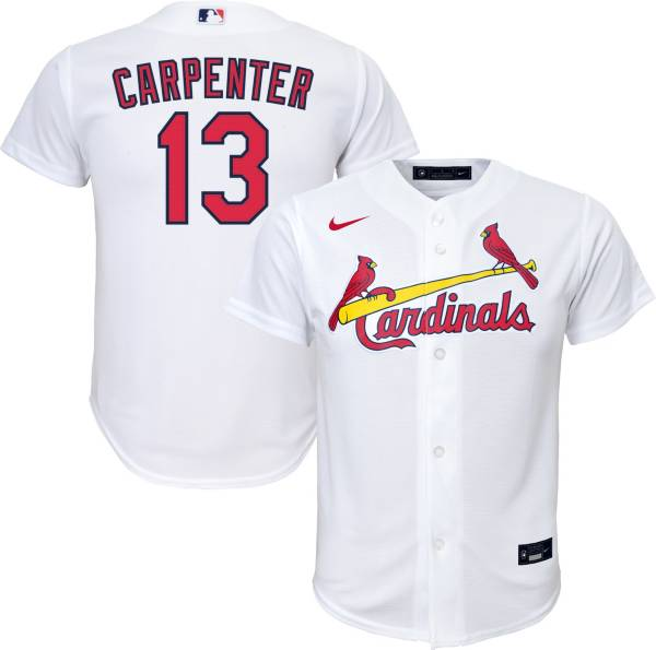 Nike Youth Replica St. Louis Cardinals Matt Carpenter #13 Cool Base White Jersey product image