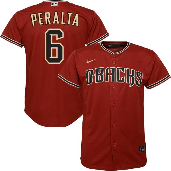 Nike Youth Replica Arizona Diamondbacks David Peralta #6 Cool Base Red Jersey product image