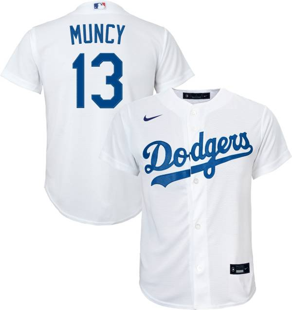 Nike Youth Replica Los Angeles Dodgers Max Muncy #13 Cool Base White Jersey product image