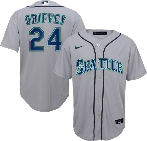 Nike Youth Replica Seattle Mariners Ken Griffey Jr. #24 Cool Base Grey Jersey product image