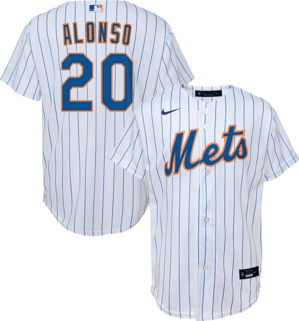 Nike Youth Replica New York Mets Pete Alonso #20 Cool Base White Jersey product image