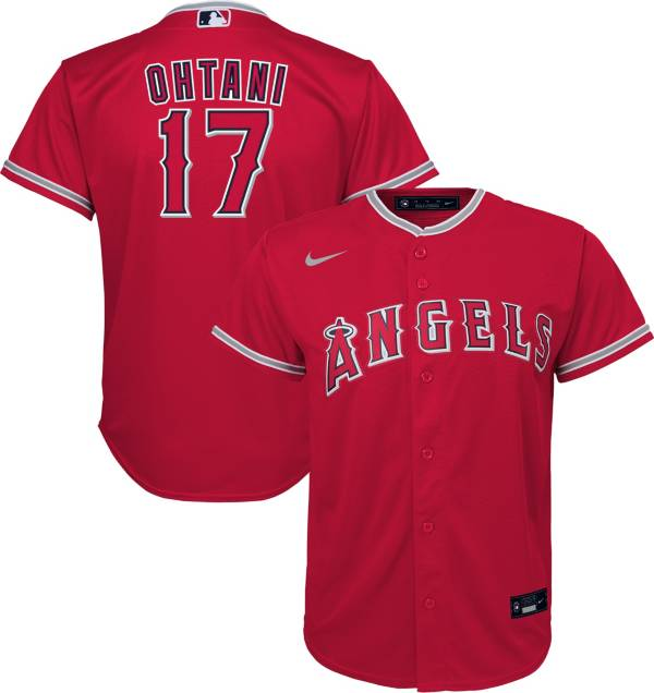 Nike Youth Replica Los Angeles Angels Shohei Ohtani #17 Cool Base Red Jersey product image