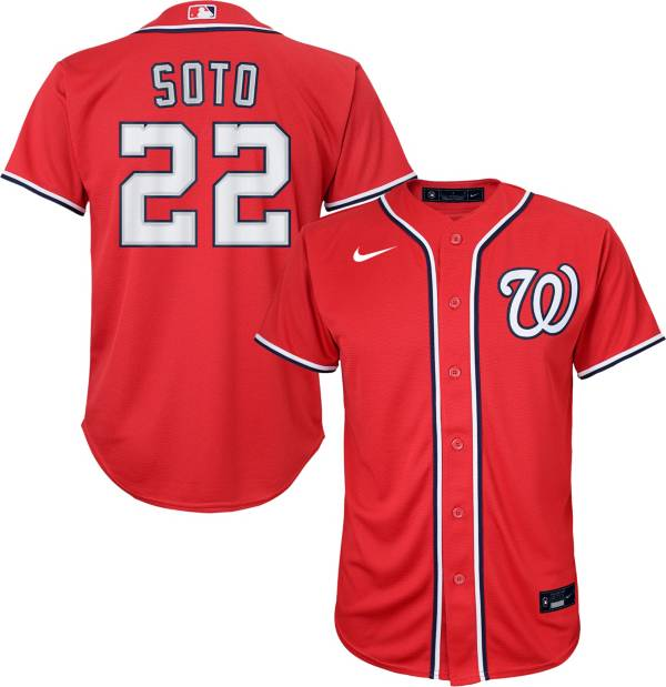 Nike Youth Replica Washington Nationals Juan Soto #22 Cool Base Red Jersey product image
