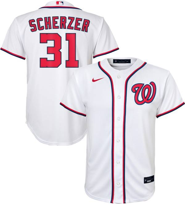 Nike Youth Replica Washington Nationals Max Scherzer #31 Cool Base White Jersey product image