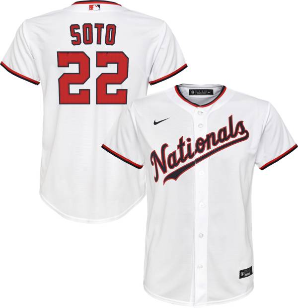 Nike Youth Replica Washington Nationals Juan Soto #22 Cool Base White Jersey product image