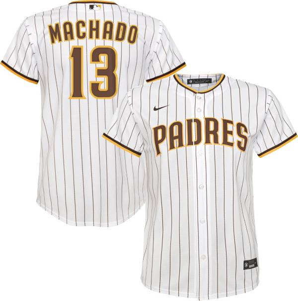 Nike Youth Replica San Diego Padres Manny Machado #13 Cool Base White Jersey product image