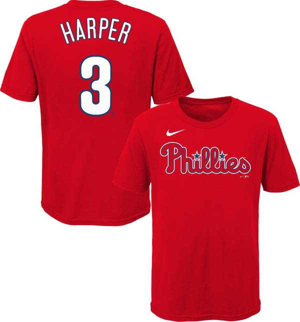 Nike Youth Philadelphia Phillies Bryce Harper #3 Red T-Shirt product image