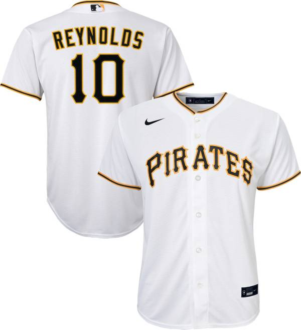 Nike Youth Replica Pittsburgh Pirates Bryan Reynolds #10 Cool Base White Jersey product image