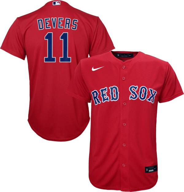 Nike Youth Replica Boston Red Sox Rafael Devers #11 Cool Base Red Jersey product image