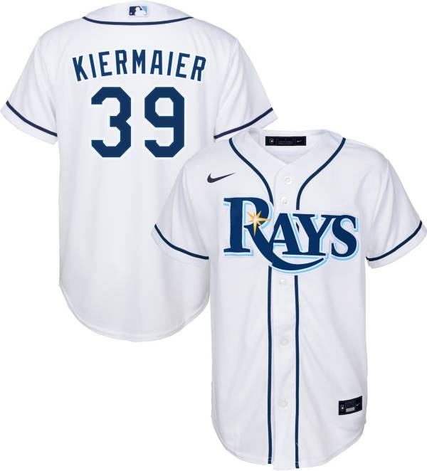 Nike Youth Replica Tampa Bay Rays Kevin Kiermaier #39 Cool Base White Jersey product image