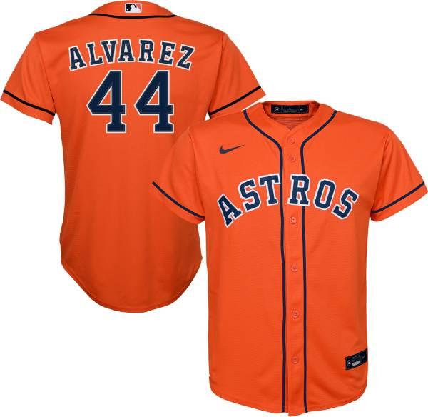 Nike Youth Replica Houston Astros Yordan Alvarez #44 Cool Base Orange Jersey product image
