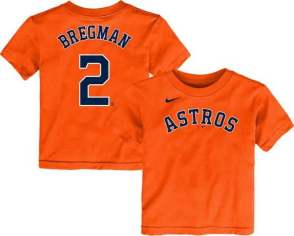 Nike Youth Toddler Houston Astros Alex Bregman #2 Orange T-Shirt product image