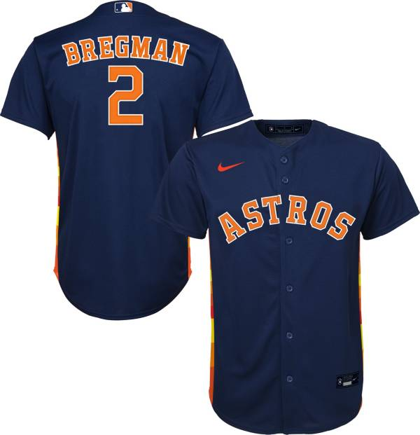 Nike Youth Replica Houston Astros Alex Bregman #2 Cool Base Navy Jersey product image