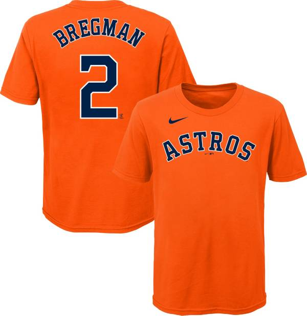 Nike Youth Houston Astros Alex Bregman #2 Orange T-Shirt product image
