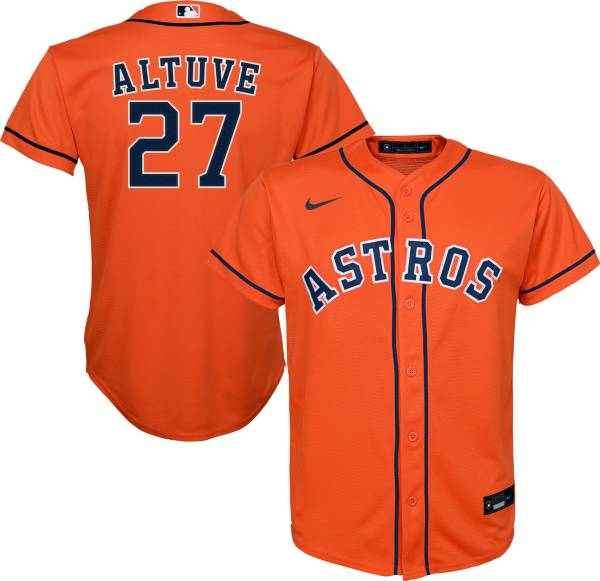Nike Youth Replica Houston Astros Jose Altuve #27 Cool Base Orange Jersey product image