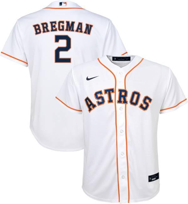 Nike Youth Replica Houston Astros Alex Bregman #2 Cool Base White Jersey