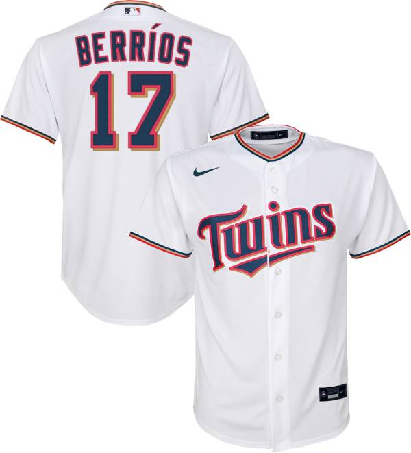 Nike Youth Replica Minnesota Twins Jose Berrios #17 Cool Base White Jersey product image