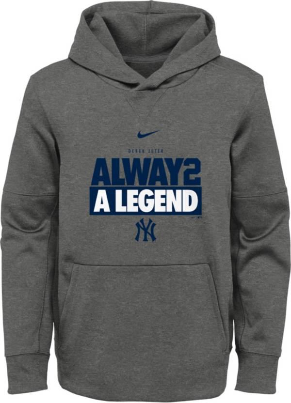 """Nike Youth New York Yankees Derek Jeter """"Always Legend"""" Navy Therma Pullover Hoodie product image"""