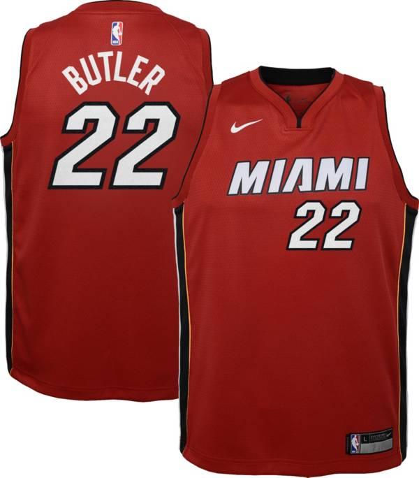 Nike Youth Miami Heat Jimmy Butler #22 Red Dri-FIT Statement Swingman Jersey product image