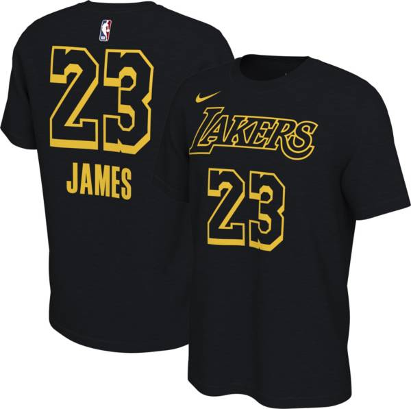 Nike Youth Los Angeles Lakers LeBron James #23 Black Mamba T-Shirt