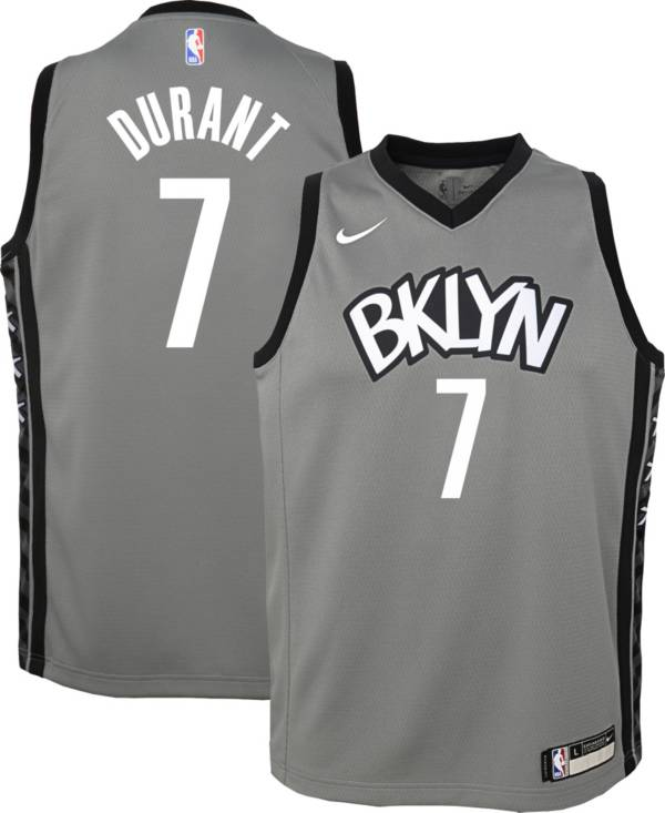 Nike Youth Brooklyn Nets Kevin Durant #7 Grey Dri-FIT Statement Swingman Jersey product image