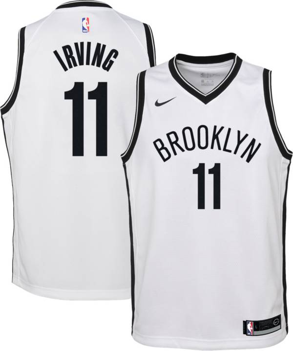 Nike Youth Brooklyn Nets Kyrie Irving #11 White Dri-FIT Swingman Jersey product image