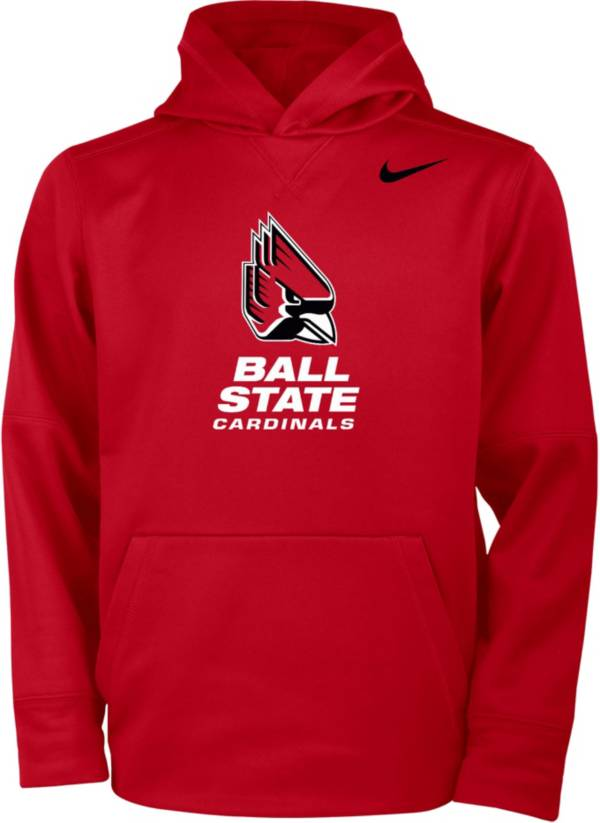 Nike Youth Ball State Cardinals Cardinal Therma Pullover Hoodie product image