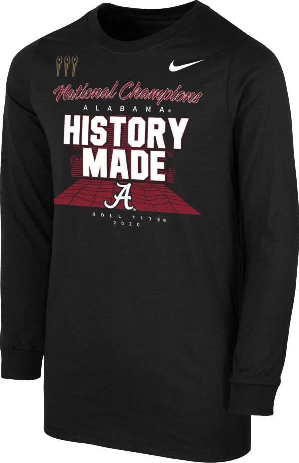 Nike Youth 2020 National Champions Alabama Crimson Tide Long Sleeve Locker Room T-Shirt product image
