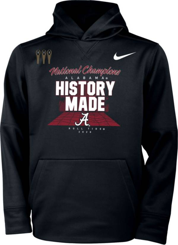 Nike Youth 2020 National Champions Alabama Crimson Tide Pullover Locker Room Hoodie product image