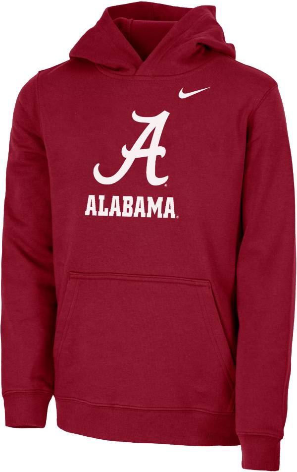 Nike Youth Alabama Crimson Tide Crimson Club Fleece Pullover Hoodie product image