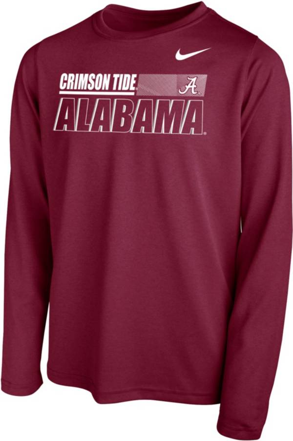 Nike Youth Alabama Crimson Tide Crimson Legend Long Sleeve Performance T-Shirt product image