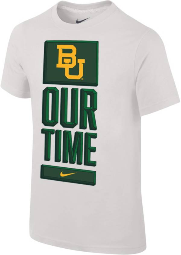 Nike Youth Baylor Bears 'Our Time' Bench White T-Shirt product image