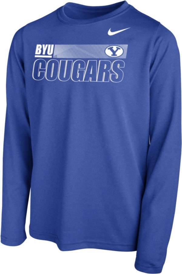 Nike Youth BYU Cougars Blue Legend Long Sleeve Performance T-Shirt product image