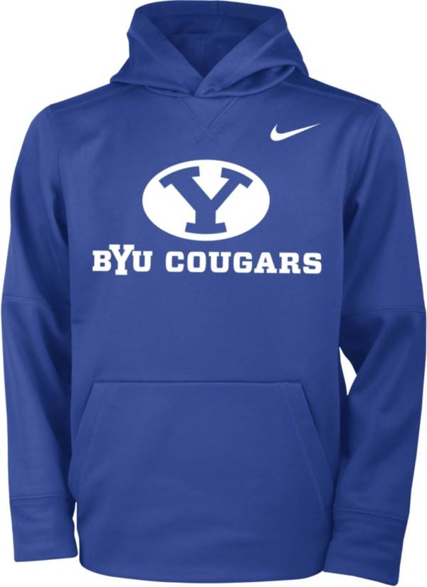 Nike Youth BYU Cougars Blue Therma Pullover Hoodie product image