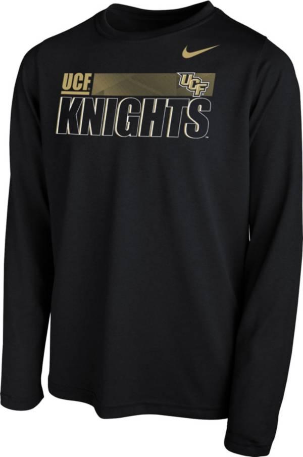 Nike Youth UCF Knights Legend Long Sleeve Performance Black T-Shirt product image