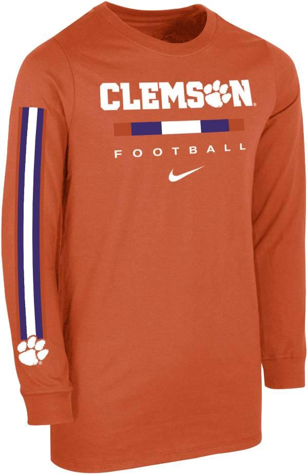 Nike Youth Clemson Tigers Orange Core Long Sleeve Cotton Football T-Shirt product image