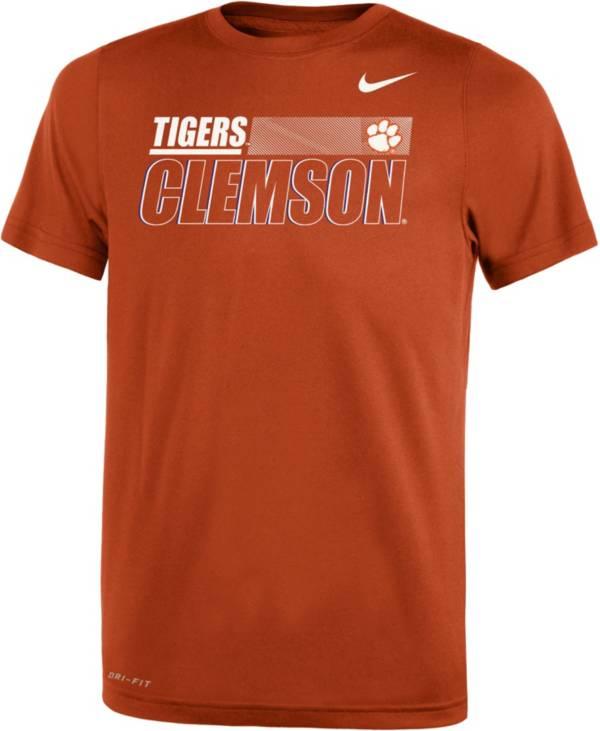 Nike Youth Clemson Tigers Dri-FIT Legend Performance Black T-Shirt product image