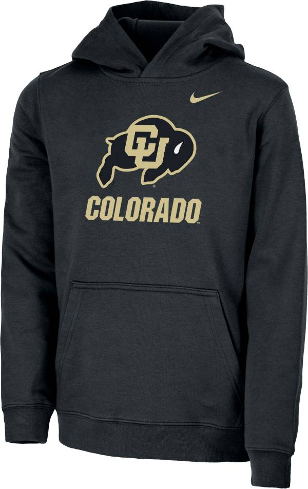 Nike Youth Colorado Buffaloes Club Fleece Pullover Black Hoodie product image