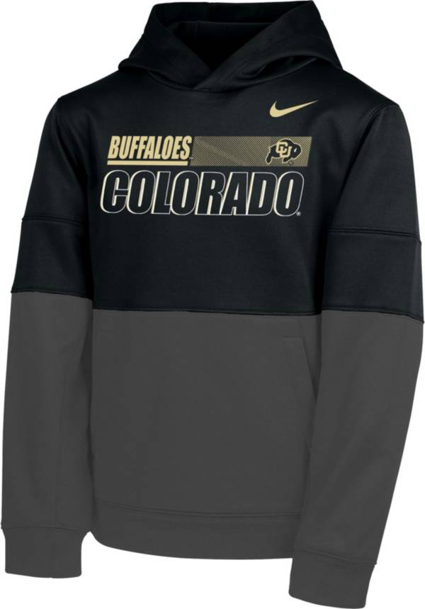 Nike Youth Colorado Buffaloes Therma Color Block Pullover Black Hoodie product image