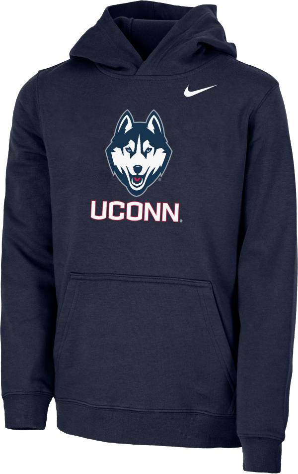 Nike Youth UConn Huskies Blue Club Fleece Pullover Hoodie product image